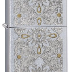 Zippo Classical Curve Pocket Lighter, Gold/Silver