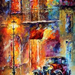 Decorative Room (Unframe And Unstretch) 100% Hand-Painted Palette Knife Oil Painting On Canvas,Vitebsk Light,40 X 57 Inch