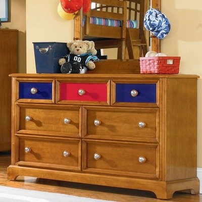 Image of Pulaski Pulaski Build-A-Bear Bearrific Kids Double Dresser in Cocoa (B004YN8IDU)