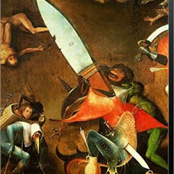 The Last Judgement (Altarpiece): Detail Of The Dagger By Hieronymus Bosch Canvas Art Wall Picture, Museum Wrapped With Mars Black Sides, 15 X 21 Inches