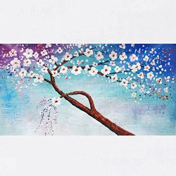 Xm Art-The View Of The Original Tree Palette Knife Landscape Oil Painting On Canvas Wall Art Deco Home Decoration(Unstretch And No Frame)