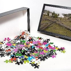 Photo Jigsaw Puzzle Of Mud Volcano Area, Yellowstone National Park, Unesco World Heritage Site