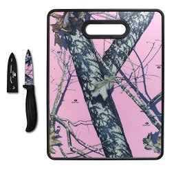 Mossy Oak Break Up Infinity Pink 11 X 14 Nonslip Cutting Board With Parer - Pink Brown