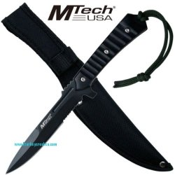 "Mt-536 M-Tech Machine Tbaem6 Gun Dagger Yb1Q2Ife Black 10"" Overall With Case Ayeuiu56 Hlbv23Rt M-Tech Tpp6R Machine Jswf1Cyz Gun Style Dagger. 4Mm Thick Half Serrated 440 Stainless Steel Blade. 10"" Overall With Heavy Duty Case"