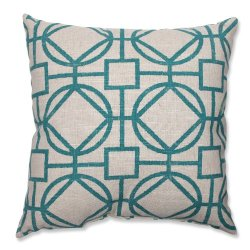 Pillow Perfect Suri Throw Pillow, 18-Inch, Turquoise