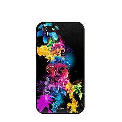 Dh-Hoping (Tm) Cell Phone Case For Personalizatied Custom Picture Iphone 5C High Impackt Combo Soft Silicon Rubber Hybrid Hard Pc & Metal Aluminum Protective Case With Customizatied Paint Retro Style Splash-Ink Luxurious Pattern (Dye-10)