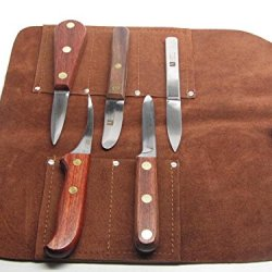 5Pc R Murphy Complete Schucker Kit Crab Scallop Oyster Clam Shrimp Leather Roll