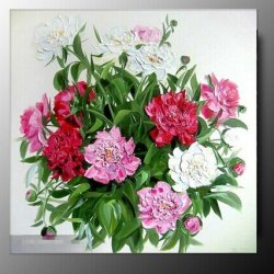 100% Hand-Painted Best-Selling Quality Goods Free Shipping Wood Framed On The Back Knife Picture Gorgeous Flowers High Q. Wall Decor Landscape Oil Painting On Canvas 3Pcs/Set Mixorde