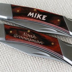 Personalized Lock Back Pocket Knife - Groomsmen Gift, Wedding Gift, Hunting Knife, Free Engraving