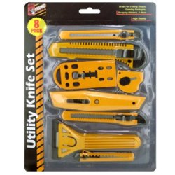 Utility Knife Set, Case Of 8