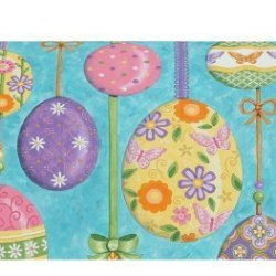 Whimsical Decorated Easter Eggs Happy Easter Magnetic Mailbox Wrap Cover
