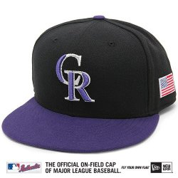 Colorado Rockies Mlb Authentic Baseball Cap 7-3/8 Osfa - Like New