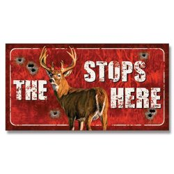 Buck Stops Here Metal Tin Sign