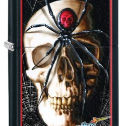 Zippo Skull Lighter, Black Matte