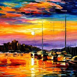 Sicily, Messina Oil Paintings Modern Canvas Wall Art Decor For Home Decoration Palette Knife On Canvas 40 X 30 In Unframed
