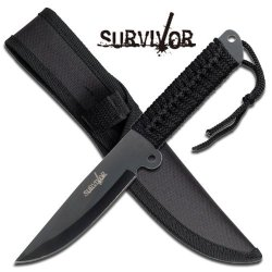 Survivor Hk-738Bk Fixed Blade Knife 9-Inch Overall