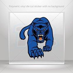Decal Stickers Blue Panther Car Door Hobbies Waterproof Racing Durable Racing (30 X 24.0 In)