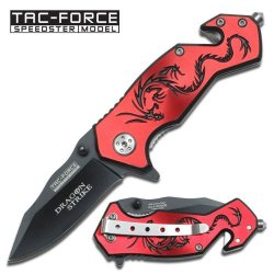 New Ao Red Dragon Rescue Knife Tf686Rb