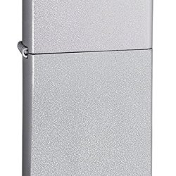 Zippo Slim Brushed Chrome Windproof Lighter - 1605