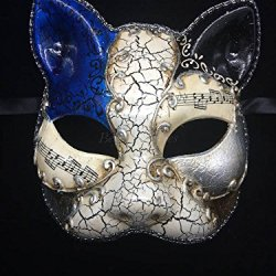 Day Of The Dead Halloween Masquerade Mask Dia De Los Muertos Mask - Blue Musical
