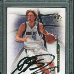 Mavericks Dirk Nowitzki Authentic Signed Card 2008 Sp Authentic #65 Psa/Dna Slabbed