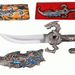 "10"" Fantasy Dragon Dagger With Gift Box (Blue Fitting)"