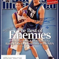 Dirk Nowitzki Autographed Signed Si Magazine Dallas Mavericks #X64801 - Psa/Dna Certified - Autographed Nba Magazines