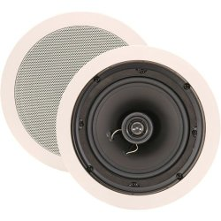 "Nxg Technology Nx-60C 2-Way In-Ceiling Speakers With Pivoting Tweeter And 6"" Woofer (White, Pair)"