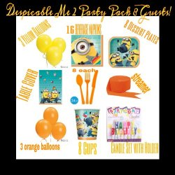 Despicable Me 2 Party Pack For 8 Guests!