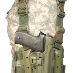 Blackhawk! Serpa Level 2 Tactical Olive Drab Holster, Size 04, Right Hand, (Beretta 92/96/M9 Std Or A1 W/Rails (Not Brig/Elite)
