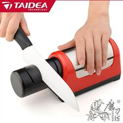 Taidea 4 Slot Electric Diamond Sharpener,Ceramic Knife Sharpener