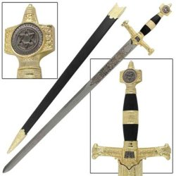 Black & Gold King Solomon Sword
