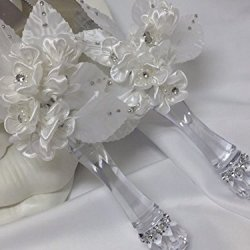 "Wedding Cake Knife And Server Spanish ""Nuestra Boda"" With Flower"