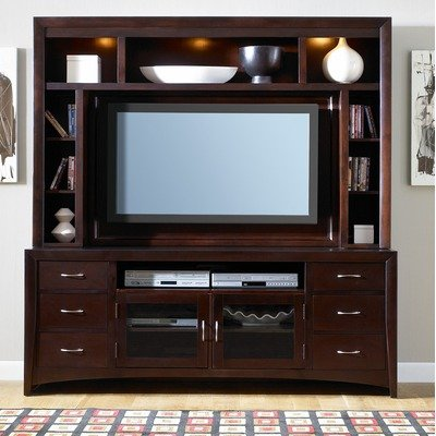 Image of Entertainment TV Stand by Liberty - Merlot Finish (940-TV00) (940-TV00)