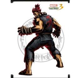 Marvel Vs Capcom 3 Akuma Game Fabric Wall Scroll Poster (16X21) Inches