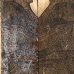 "Ziricote Stump Figured 2 Pc Mini Knife/Razor Scale 3/16""X1""X4"" 602"