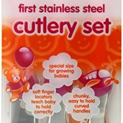 Vital Baby First Stainless Steel Cutlery Set, Pink
