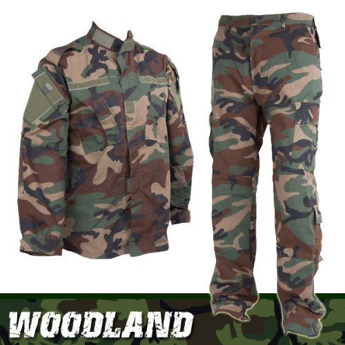 SHENKEL アメリカ陸軍 Woodland BDU 迷彩服 上下セット (ウッドランド) M