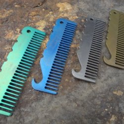 John Gray Knives - Titanium Tactical Edc Keychain - Small Bottle Opener/Comb - Made In The Usa - Anodized Any Custom Color