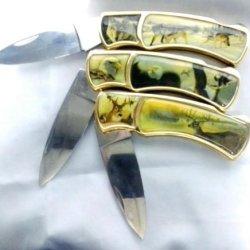 Set Of 3 Wild Life Pocket Knives