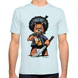 Society6 Men'S Bo Plushy Gangsta Machete T-Shirt 2X-Large Light Blue