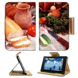 Cucumber Bread Tomato Baked Goods Herbs Knife Google Nexus 7 Flip Case Stand Magnetic Cover Open Ports Customized Made To Order Support Ready Premium Deluxe Pu Leather 7 7/8 Inch (200Mm) X 5 Inch (127Mm) X 11/16 Inch (17Mm) Liil Nexus 7 Professional Nexus