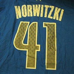 Dirk Nowitzki Mavericks Signed Autographed Screened Jersey T Shirt Coa