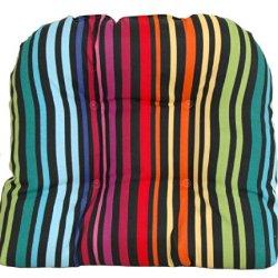 Codson Park 81046 Outdoor U Cushion With Knife Edge Finish, Godiva Rainbow, 21 By 18-Inch
