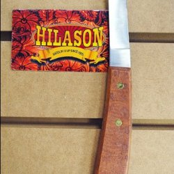 Hilason Horse Tack Left Hand Hoof Knife With Wood Handle