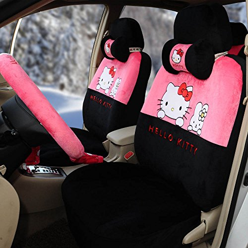 Girly car seat covers and mats for women for Housse de voiture hello kitty