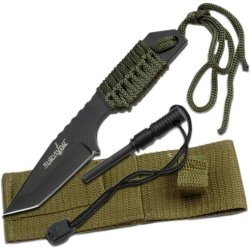 Survivor Hk-106320 Outdoor Fixed Blade Knife 7 Overall With Fire Starter