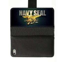 Jdsitem Unique U.S. Navy Seals Retiary Design Diary Leather Case Cover Sleeve Protector For Phone Iphone 5S
