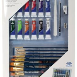 Royal & Langnickel Essentials Clear View Acrylic Painting Set, Deluxe