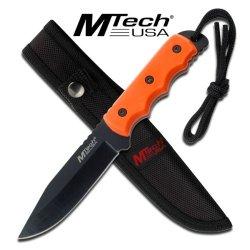 """Mtech 8"""" Full Tang Hunter- Orange"""
